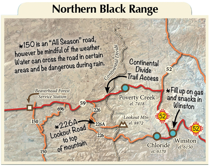 northern Black Range map