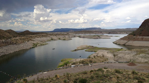 geronimo trail scenic byway at Elephant Butte Lake