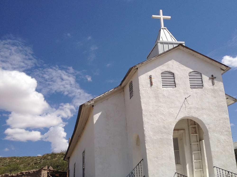 The church at Cuchillo