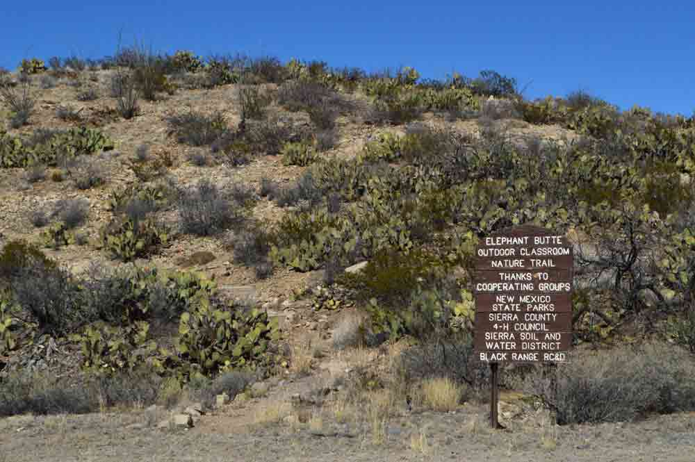 Nature trail near Elephant Butte Dam