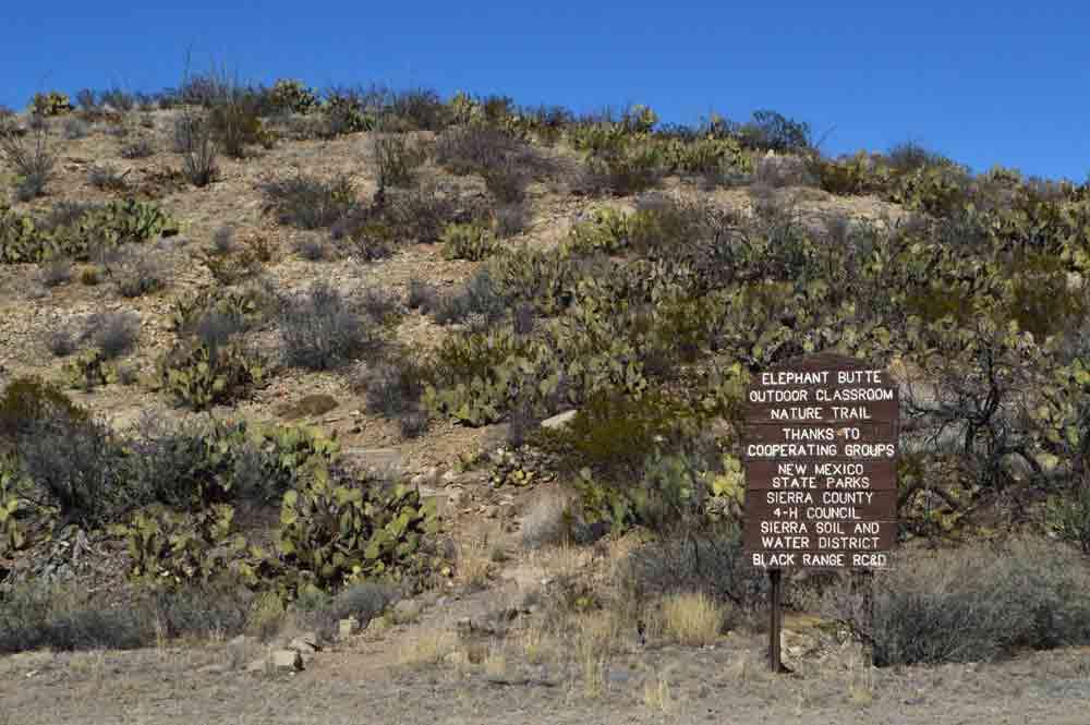 Nature trail near Elephant Butte Dam