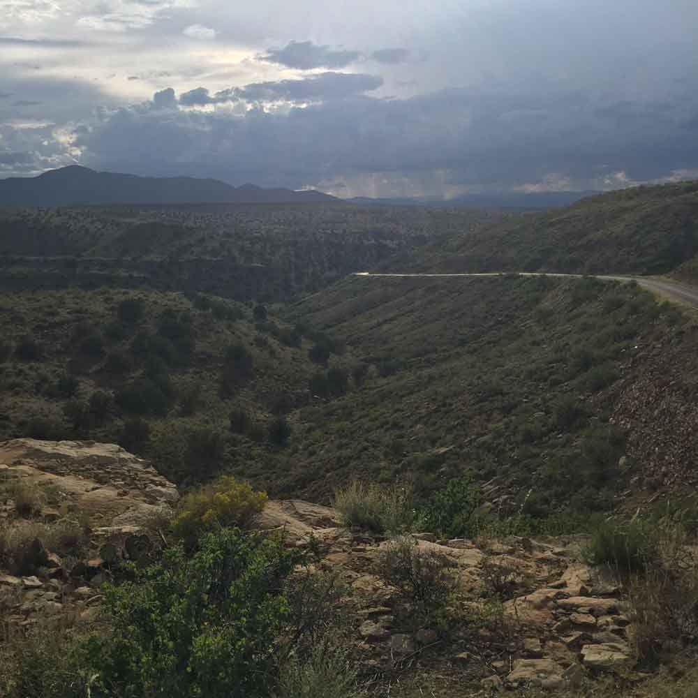 mountain scenery along the Geronimo Trail Scenic Byway
