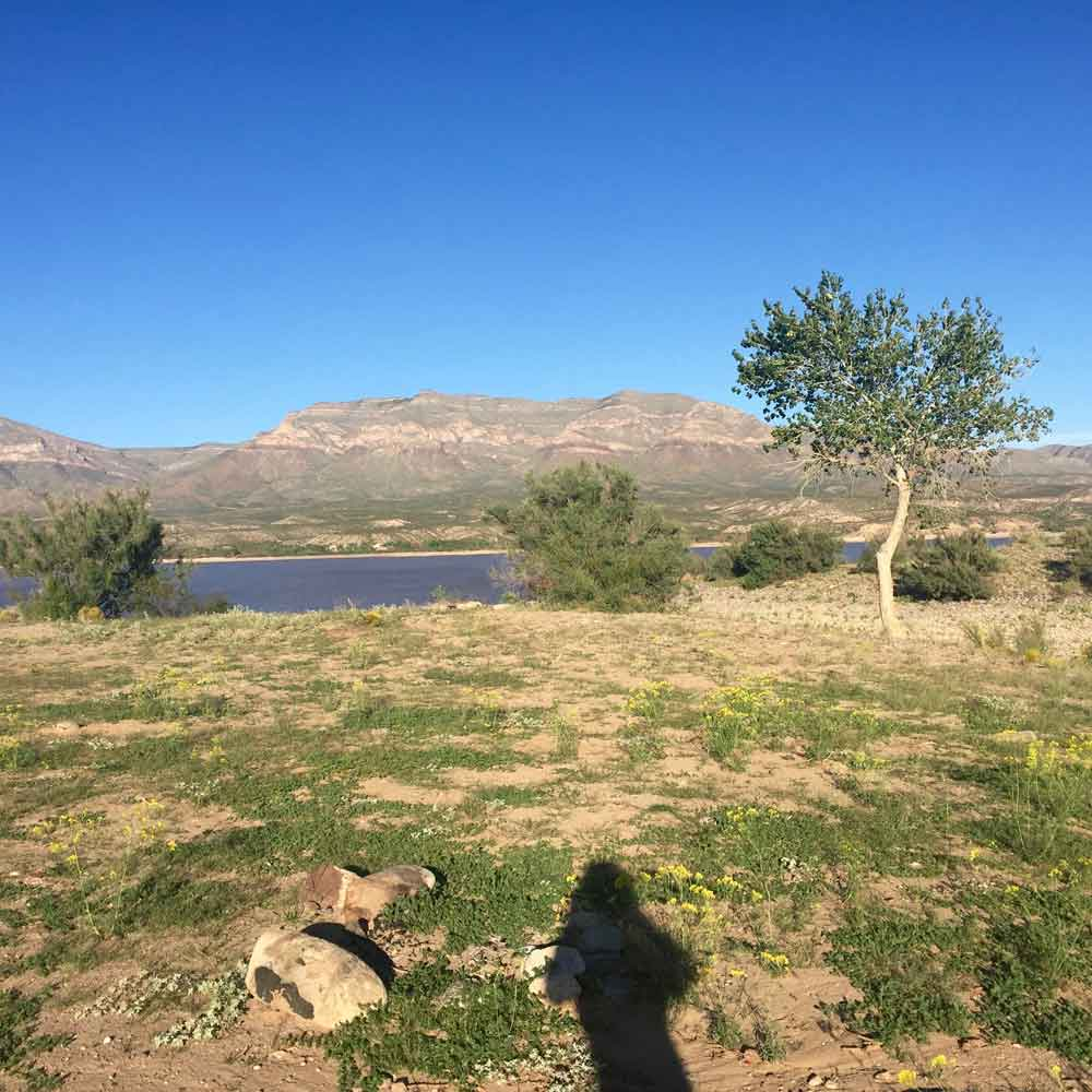 secluded spot along the Geronimo Trail National Scenic Byway