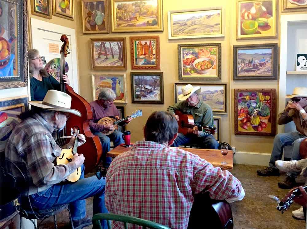 music making at Black Range Vineyards, HIillsbor NM