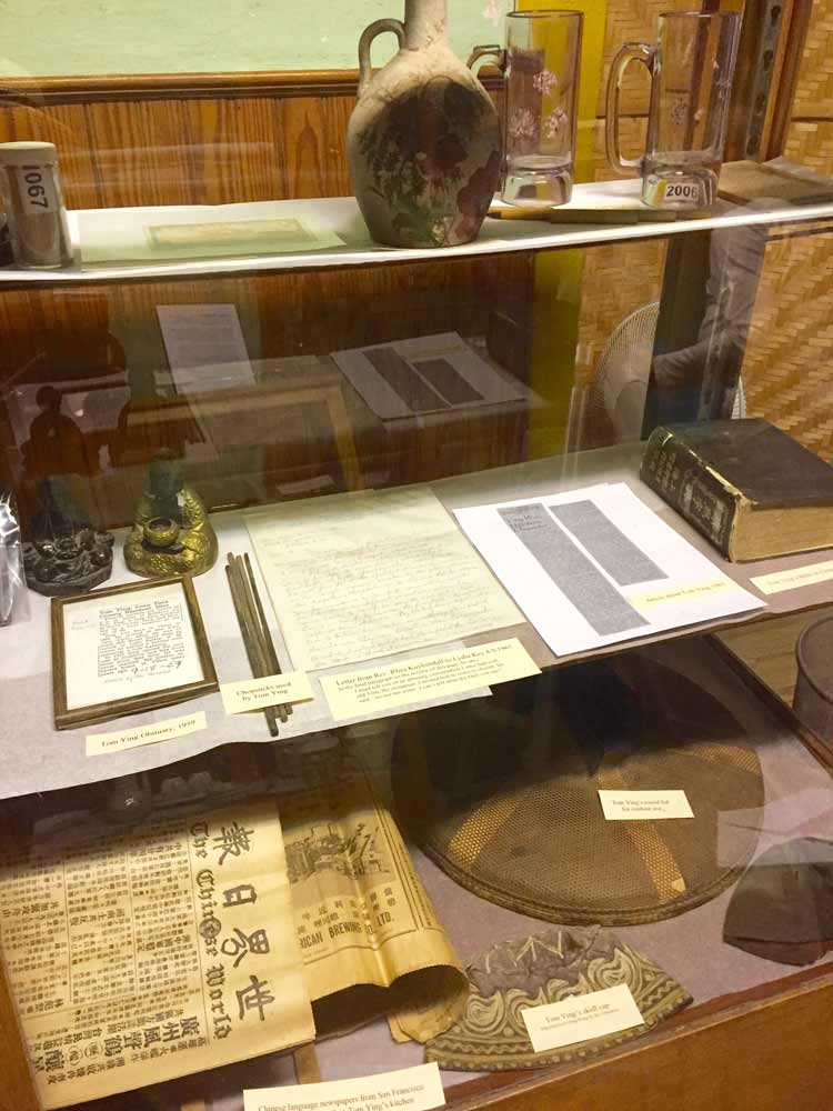 a few of Tom Ying's personal items