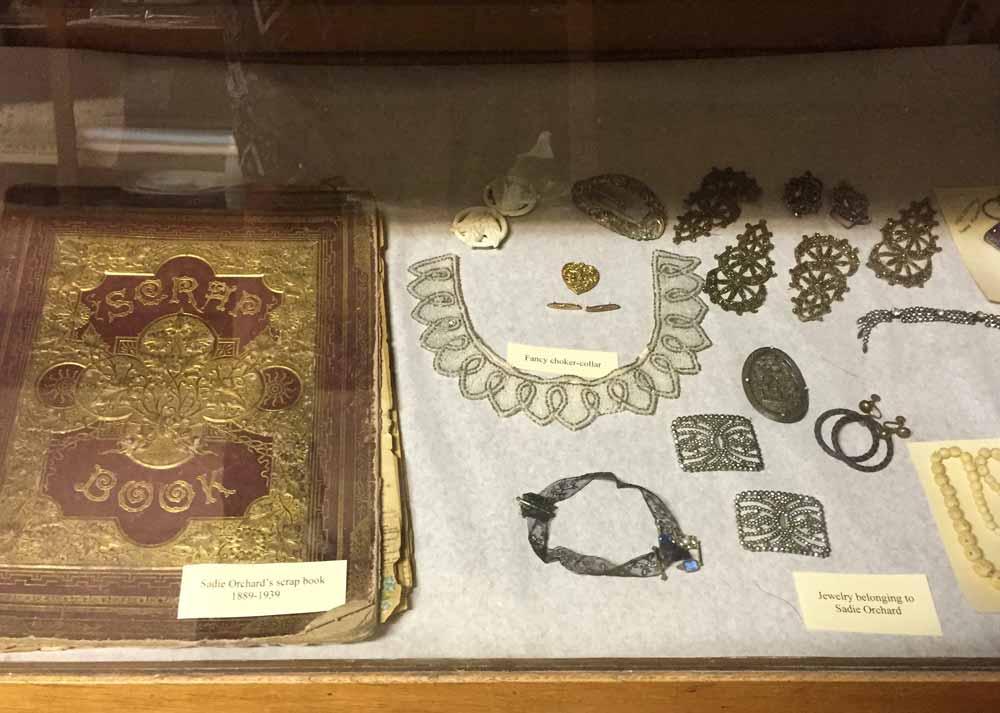 some of Sadie Orchard's belongings at Hilllsboro's Black Range Museum
