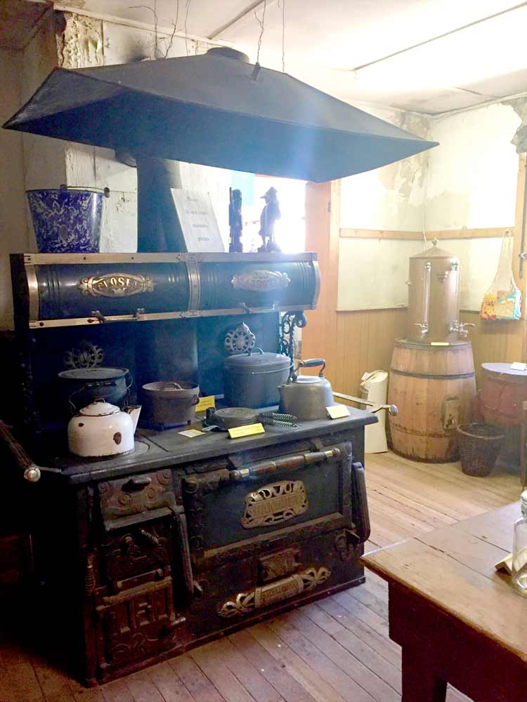 the kitchen of Tom Ying at the Black Range Museum in Hillsboro NM
