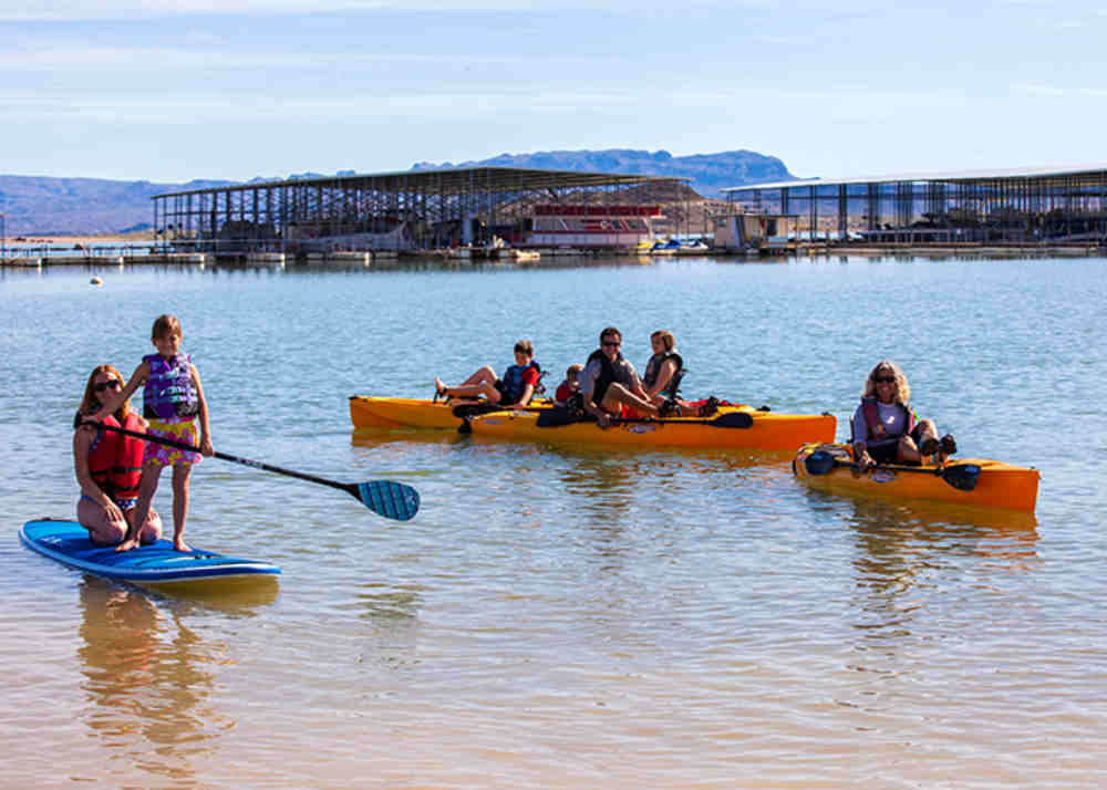 kayaking at Elephant Butte Lake