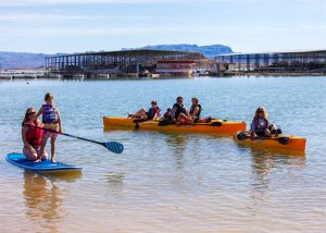 kayaking at Elephant Butte Lake along the Geronimo Trail Scenic Byway