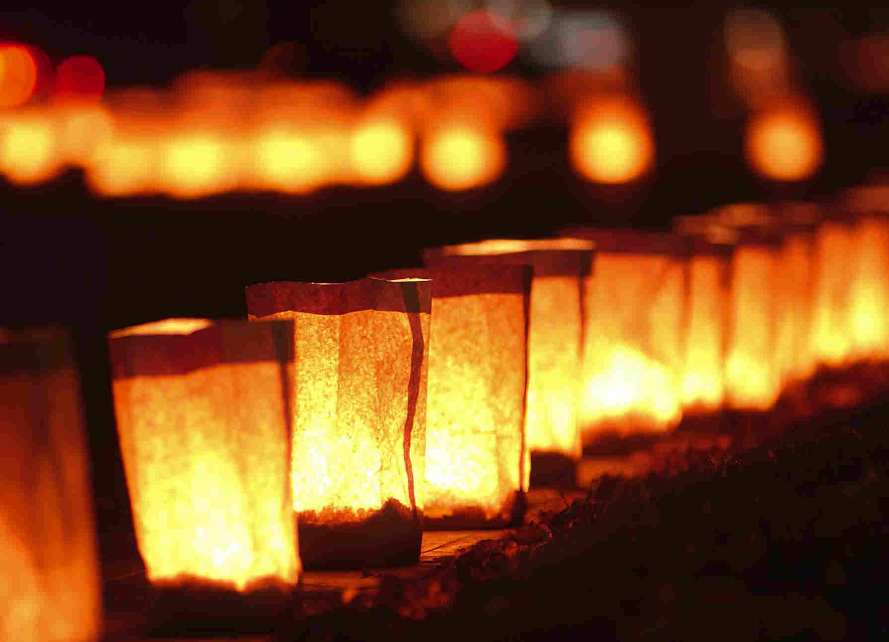 luminarias at Elephant Butte Lake State Park